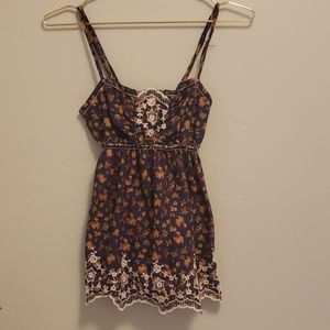Chelsea & Violet floral tank top small